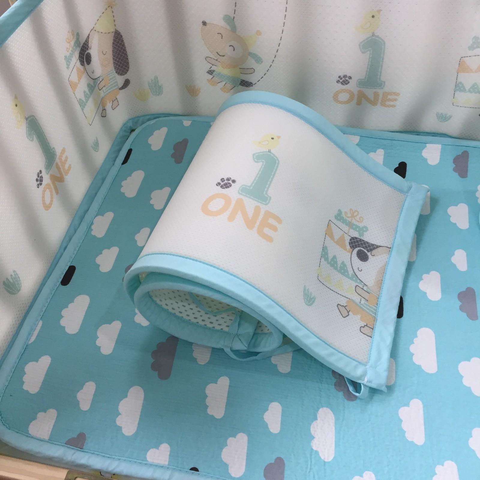 3d breathable washable air mesh fabric  crib bumper
