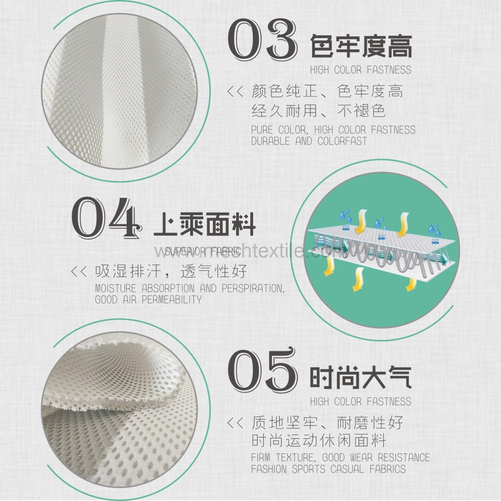 spacer mesh  fabric for  car  ventilation cushion material