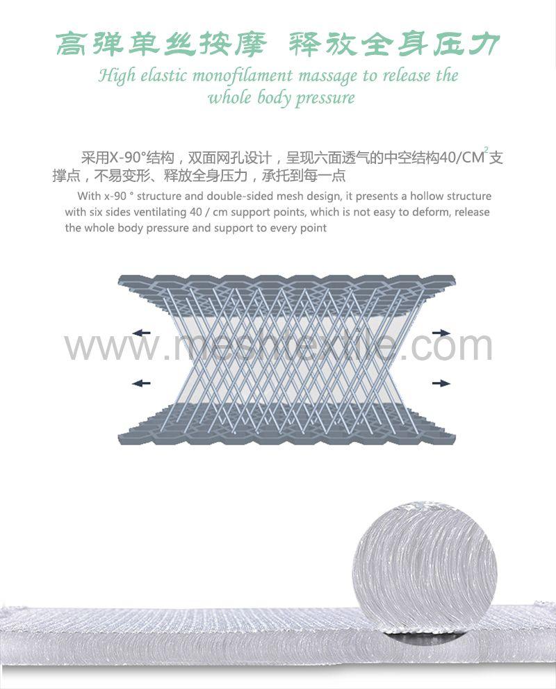 3D mesh  bath mat